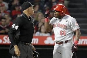 La Stella's inside-the-park HR powers Angels past Reds, 5-1