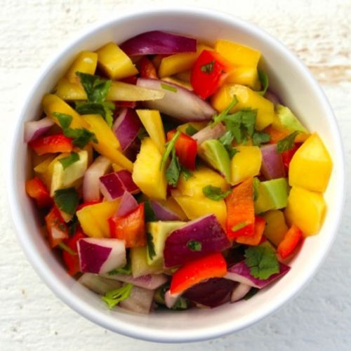Mango Salsa with Lime Juice