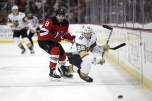 Devils rally from 3 goals down, beat Golden Knights in OT