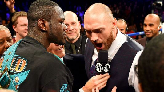 Deontay Wilder gets into heated exchanges with Tyson Fury and his father