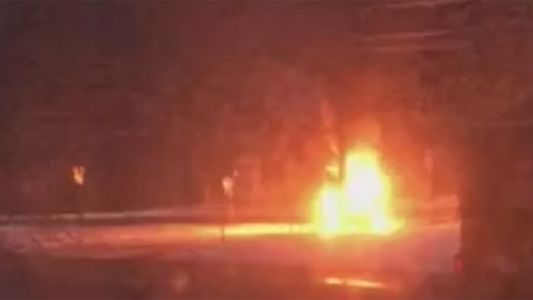 Vehicle strikes plow truck in Chichester, bursts into flames