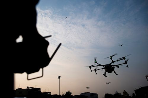 Drones drop packages on Virginia lawns in first-ever U.S. delivery