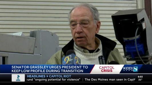 Sen. Grassley opposes impeachment, suggests Trump 'lay low'