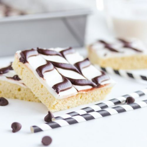 Black And White Cookie Bars
