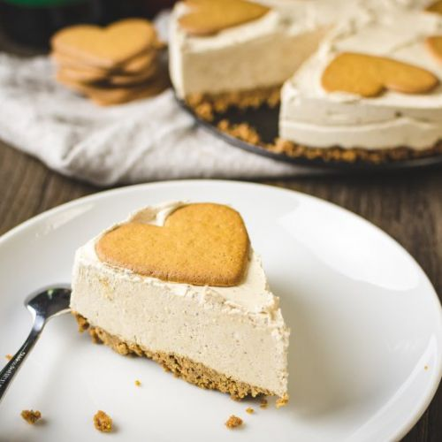 No bake gingerbread cheesecake