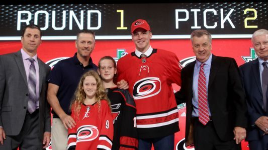 Second overall pick Andrei Svechnikov gets first NHL point