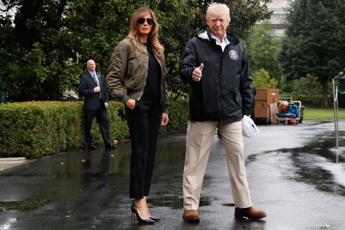 Melania doesn't give a damn that you don't like her stilettos and Dolce & Gabbana