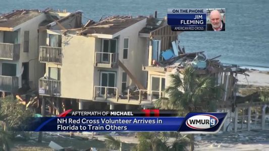 Red Cross volunteer from NH helping with Hurricane Michael relief efforts in Florida