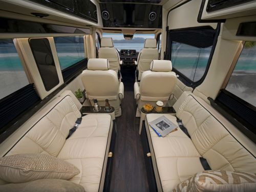 A Mercedes-Benz Sprinter was converted into a tiny luxury home on wheels starting at $172,500 - see inside the 2021 Daycruiser 144 RV