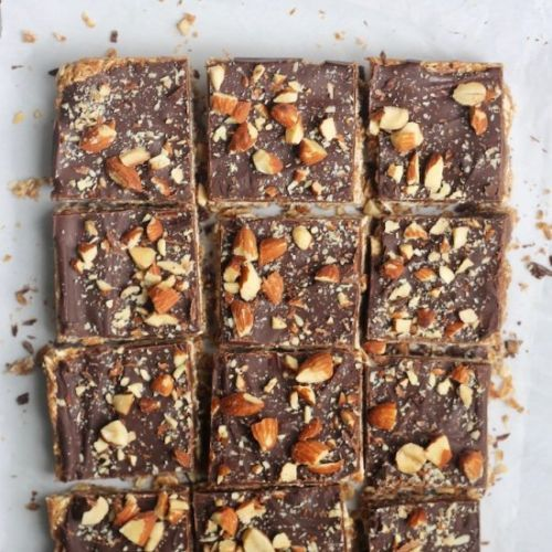 Chocolate Almond Butter Oat Bars