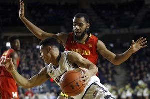 Cowan scores 24 and Maryland pulls away to beat Navy 78-57