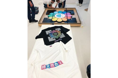 "Virgil Abloh & Takashi Murakami Unveil T-shirts For ""TECHNICOLOR 2"" Exhibition"