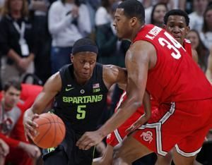 No. 11 Michigan State dominates late, beats Ohio State 62-44