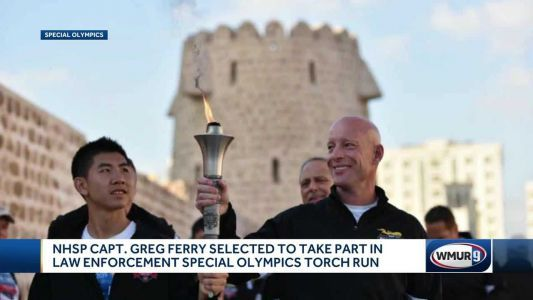 NH State Police captain taking part in Special Olympics torch run in UAE