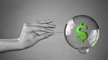 US economy a gigantic bubble & coronavirus could be the pin, Peter Schiff tells Boom Bust
