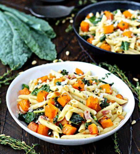 Dining with the Doc: Penne with Roasted Butternut Squash and Kale