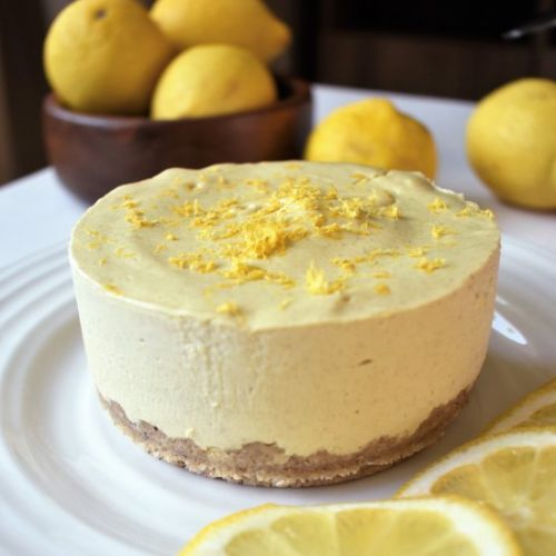Gluten Free Lemon Vegan Cheesecake