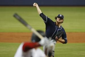 Paddack takes no-hitter into 8th as Padres beat Marlins 3-2