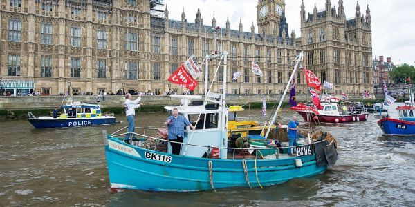 Conservative MPs are throwing fish into the Thames in protest at Theresa May's Brexit deal