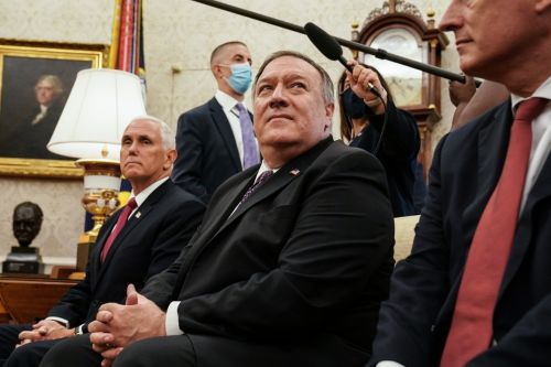 Pompeo stumps for Trump, and looks past him