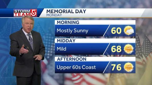 Video: Beautiful Memorial Day to be followed by rain