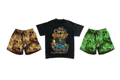 """Warren Lotas Drops """"Old Chevy's Never Die"""" Tee, """"Hell Camo"""" Shorts & More"""