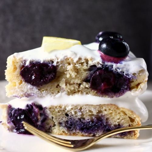 GF Vegan Lemon Blueberry Layer Cake