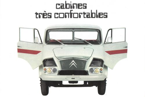 I really like Citroën's commercial trucks, and I get why this 1969 brochure would want to use a high