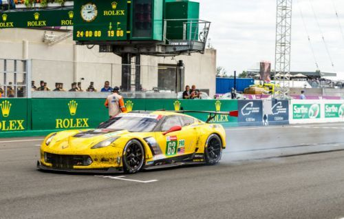 Corvette drivers Jan Magnussen, Antonio Garcia, and Mike Rockenfeller took their bright yellow Ameri