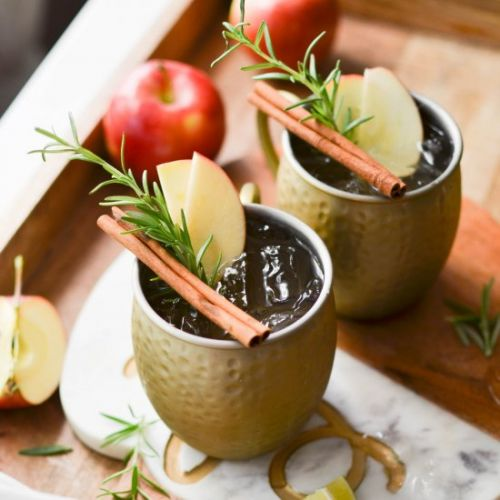Spiced Apple Cider Mules