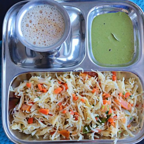 Semiya Upma with Vegetables