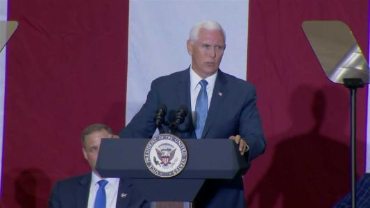 Vice President Pence takes part in moon landing anniversary at Kennedy Space Center