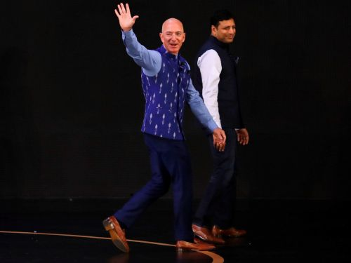 Jeff Bezos is visiting India amid protests and a government investigation into Amazon - here's what his trip has been like so far