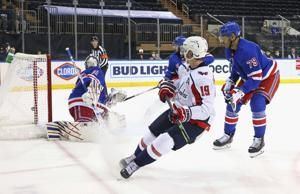 Sprong sends Capitals to 6-3 win, Rangers eliminated