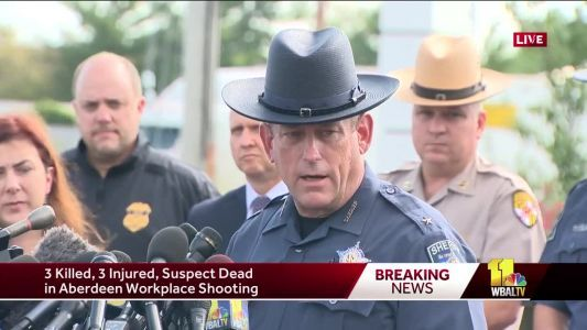 Sheriff: 4 dead, including shooter, in Aberdeen shooting
