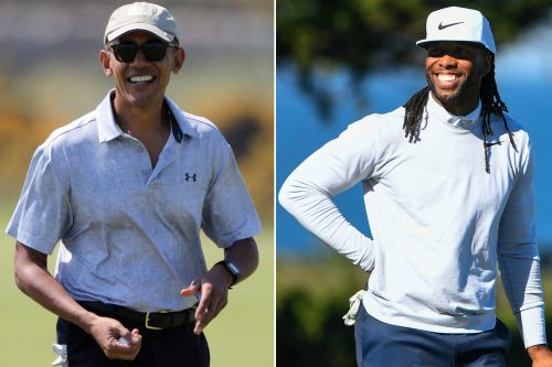 Larry Fitzgerald hits hole-in-one while golfing with Obama