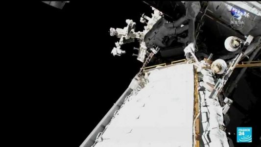 WATCH: Astronauts install new solar panels during 6-hour spacewalk