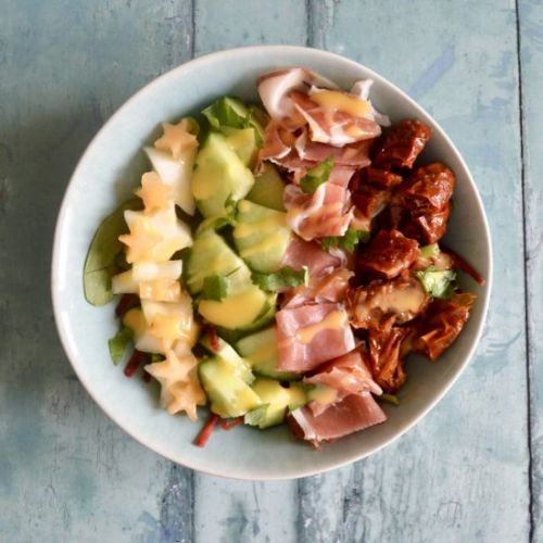 Tomato, Serrano Ham and Melon Salad
