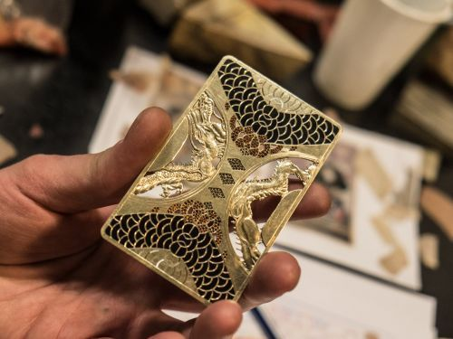 A Swiss-Russian company makes credit cards into works of art using gold, diamonds and precious gems. Here's a look at the cards - which sell for as much as $50,000