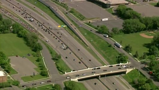 St. Paul Protest Group Marches Onto I-94; Minneapolis Protest Group Amasses At U.S. Bank Stadium