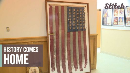 159-year-old Union flag from Civil War returns home to Maine