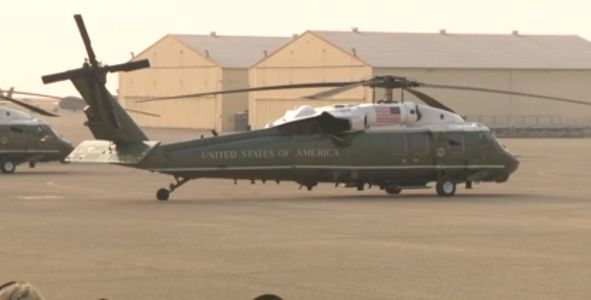 WATCH LIVE: President landing at Beale AFB to visit Camp Fire victims