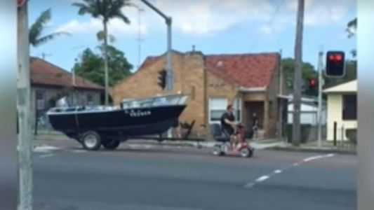 Aussie Man Who Used a Mobility Scooter to Tow His Boat: 'Well I Lost Me License'