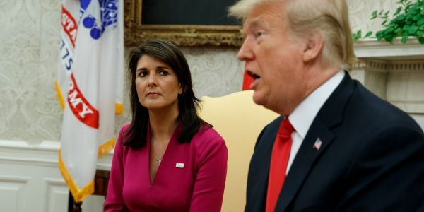 Former UN Ambassador Nikki Haley was 'deeply disturbed' by Trump's Charlottesville remarks, she says in her new book
