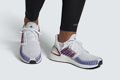 Adidas UltraBOOST 20 Appears in Festive White, Red and Blue
