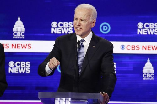 Biden finally shows up to the debate stage - just in time