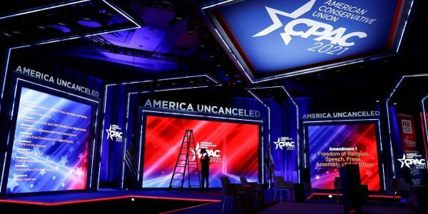 Hyatt Hotels said it is taking claims the CPAC stage was inspired by a Nazi rune 'very seriously' and called hate symbols 'abhorrent'