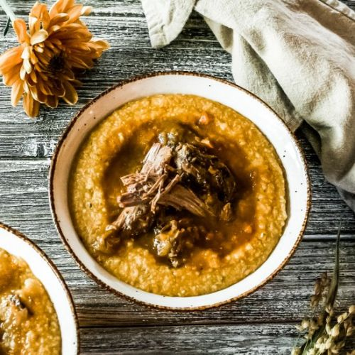 Lamb Roast and Pumpkin Sage Polenta