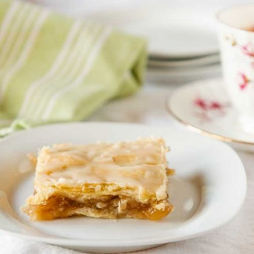Glazed Apple Pie Bar