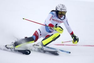 Shiffrin fastest in foggy slalom leg of World Cup combined